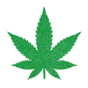 Picture of Marijuana Leaf Glitter Tattoo Stencil - HP (5pc pack)