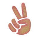 Picture of Finger Peace Sign Glitter Tattoo Stencil - HP (5pc pack)