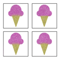 Picture of Mini 4 in 1 Ice Cream Glitter Tattoo Stencil - HP (5pc pack)