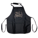 Picture of Face Painter - Medium Length Apron With Pouch - Black w/ Glitter