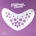 Picture of Art Factory Boomerang Stencil - Whimsey Snowflakes (B031)