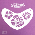 Picture of Art Factory Boomerang Stencil - Tropical Flower (B028)