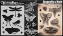 Picture of Tattoo Pro Stencil -  Dragonfly & Moth  (ATPS183)