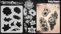 Picture of Tattoo Pro Stencil -  Pretty Flowers  (ATPS188)