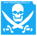 Picture of Skull & Swords Stencil (ABA) - pack of 10