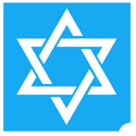 Picture of Star of David stencil ( ABA ) pack of 10