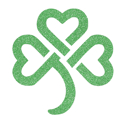 Picture of Celtic Shamrock Glitter Tattoo Stencil - HP (5pc pack)