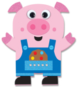 Picture of Krafty Kids Kit: DIY Foam Friends Craft Kit - Pig (CK192-R)