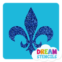 Picture of Fleur De Lis Stencil Glitter Tattoo Stencil - HP-105 (5pc pack)
