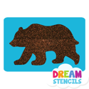 Picture of Grizzly Bear Glitter Tattoo Stencil - HP (5pc pack)
