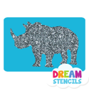 Picture of Rhino Glitter Tattoo Stencil - HP (5pc pack)