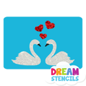 Picture of Kissing Swans Glitter Tattoo Stencil - HP (5pc pack)