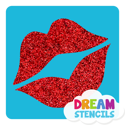 Picture of Lips Glitter Tattoo Stencil - HP (5pc pack)