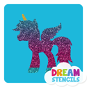 Picture of Unicorn Pegasus Glitter Tattoo Stencil - HP-85 (5pc pack)