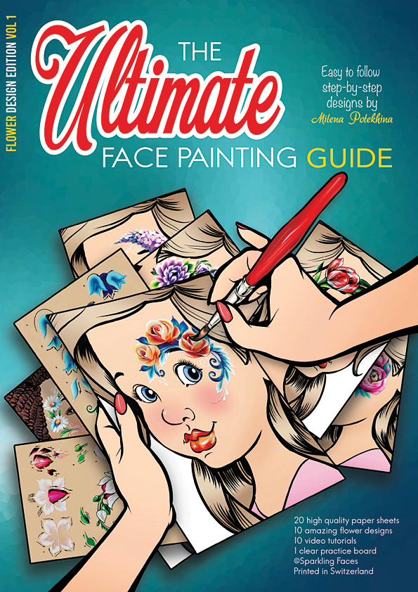 Sparkling Faces The Ultimate Face Painting Practice Guide Flower Design Edition Volume 1 Tag Body Art Canada