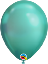 "Picture of 7"" Qualatex Chrome Green round balloons - (100/bg)"