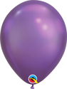 "Picture of 7"" Qualatex Chrome Purple round balloons - (100/bg)"