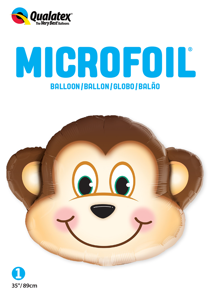 "Picture of 35"" Mischievous Monkey Foil Balloon (1pc)"