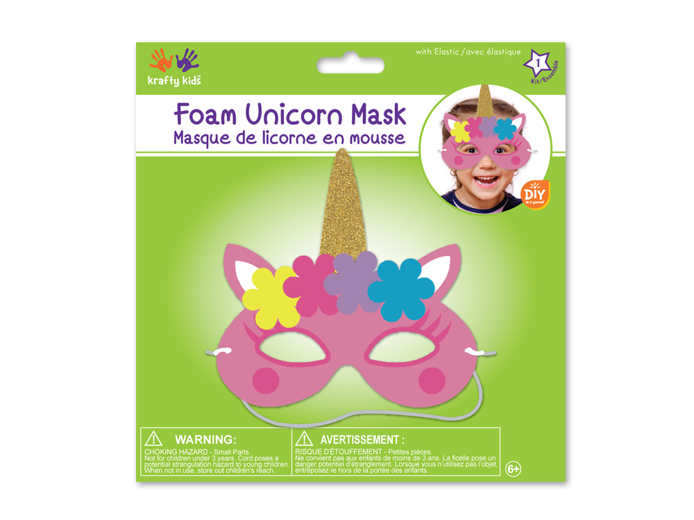 Picture of Krafty Kids Kit: DIY Foam Unicorn Mask w/Elastic - Pink (CK261-A)