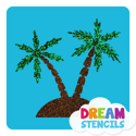 Picture of Palm Trees Glitter Tattoo Stencil - HP (5pc pack)
