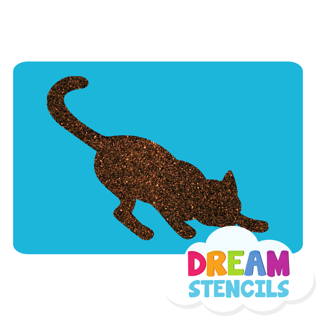 Picture of Stretching Cat Glitter Tattoo Stencil - HP-196 (5pc pack)