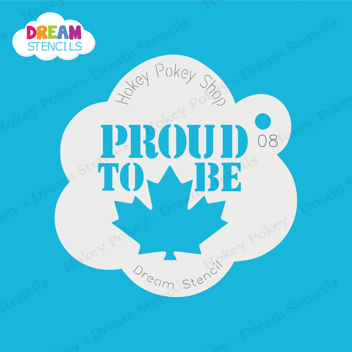 Proud To Be Canadian Dream Stencil 08 Tag Body Art Canada