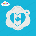 Picture of Canada Heart Flag - Dream Stencil - 09