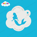 Picture of Swimming Mermaid - Dream Stencil - 28
