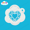 Picture of Geometric Heart - Dream Stencil - 79