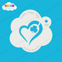 Picture of Heart  Shamrock - Dream Stencil - 99