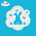 Picture of Easter Bunny with Butterflies  - Dream Stencil - 107
