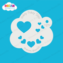 Picture of Assorted Hearts  - Dream Stencil - 121