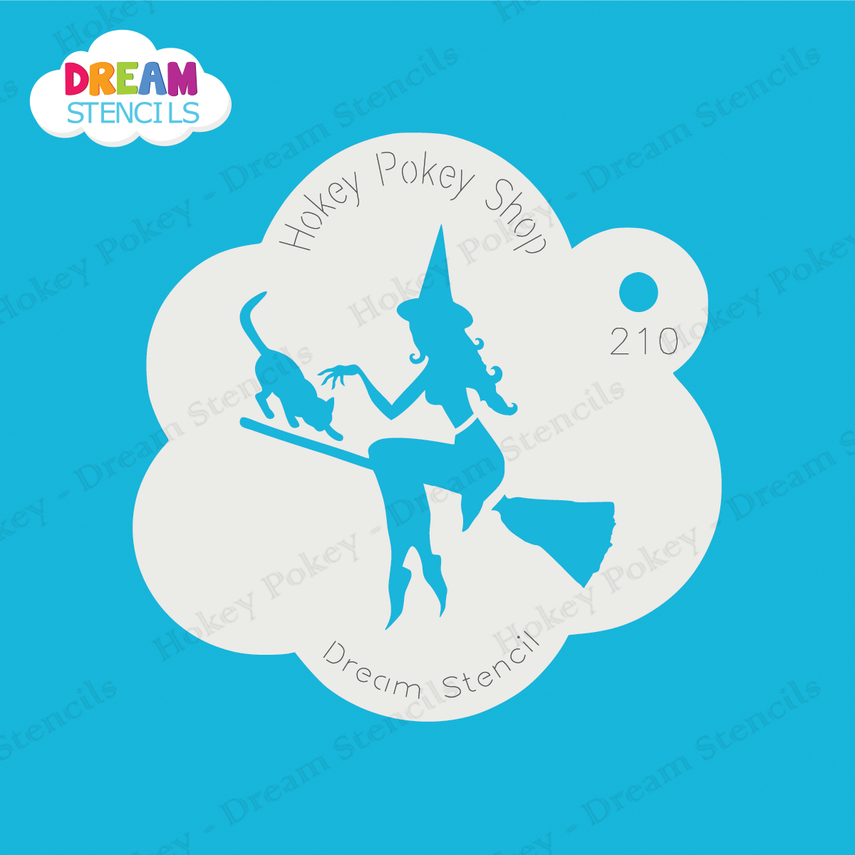 Picture of Wicked Witch With A Cat - Dream Stencil - 210
