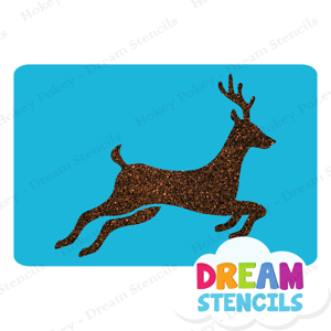 Picture of Running Deer Glitter Tattoo Stencil - HP-208 (5pc pack)