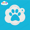 Picture of Paw Print - Dream Stencil - 268
