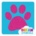 Picture of Paw Print Glitter Tattoo Stencil - HP-283 (5pc pack)