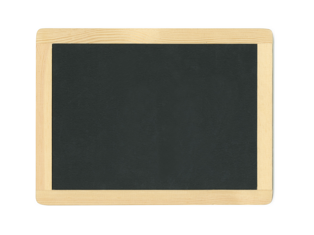 "Picture of Natural DIY Chalkboard Frame w/Metal Hooks 11.5""x8.75""  (WS504)"
