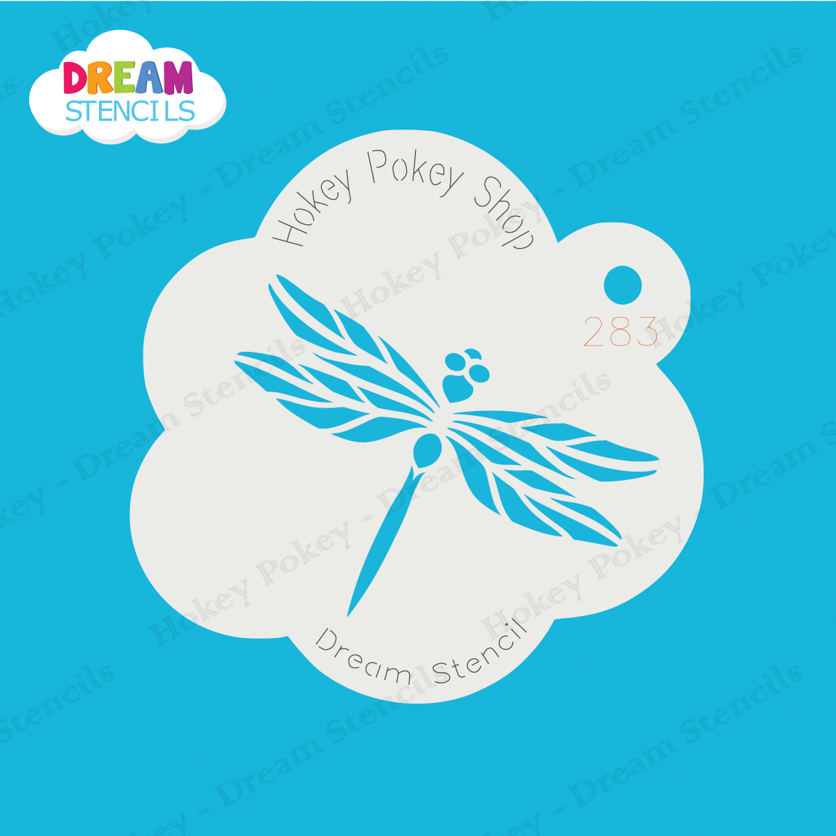 Picture of Fancy Dragonfly Dream Stencil - 283